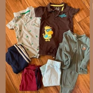 *Baby Boy 9 Months Lot Carters Just One You Outfit